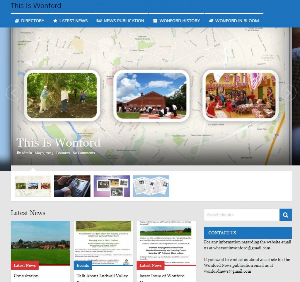 this is wonford website preview